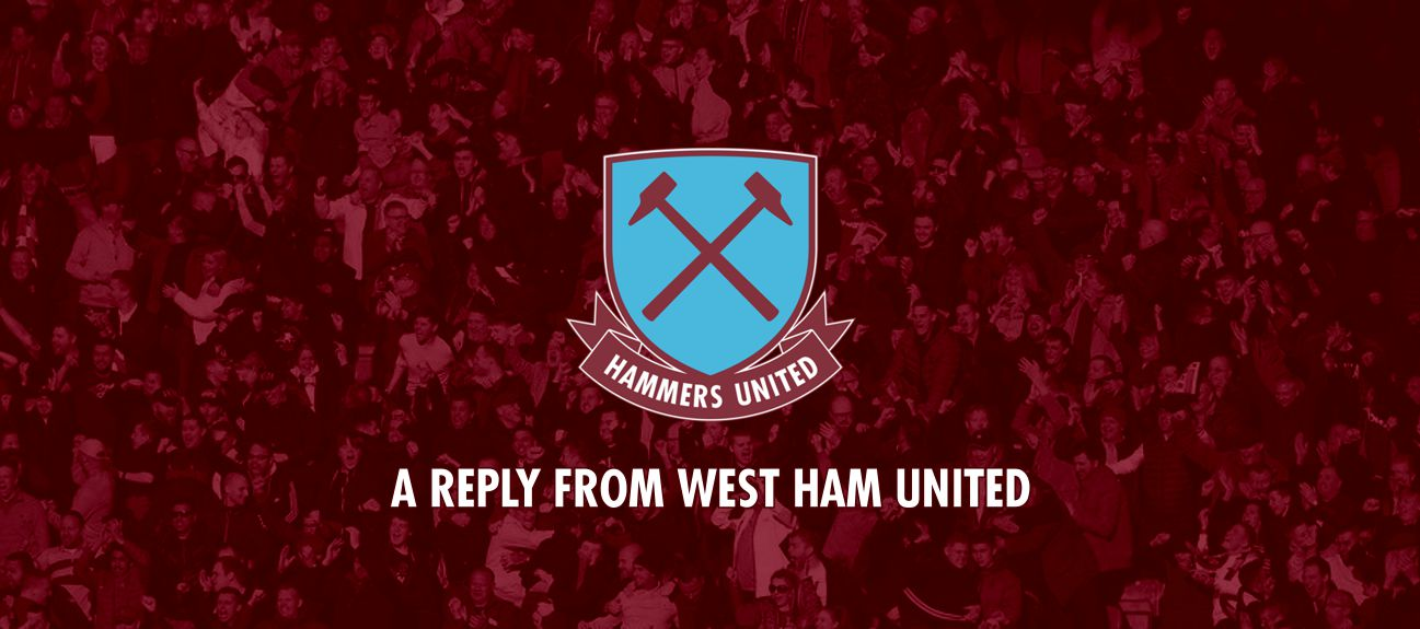 A Reply From West Ham United
